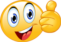 A thumbs up emoticon for spotting the legitimate MLM opportunity.