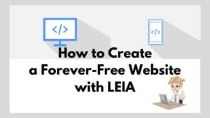 Leia will help you with your question of how to create a website for free.