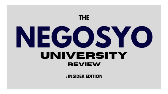 Negosyo university review insider edition.